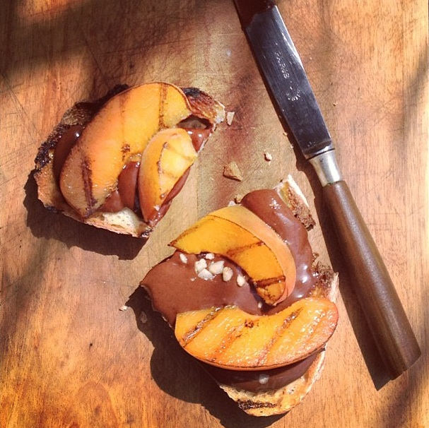 Nutella & Nectarines