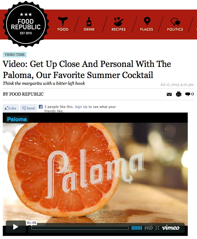Paloma On Food Republic