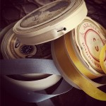 Vintage silk ribbons