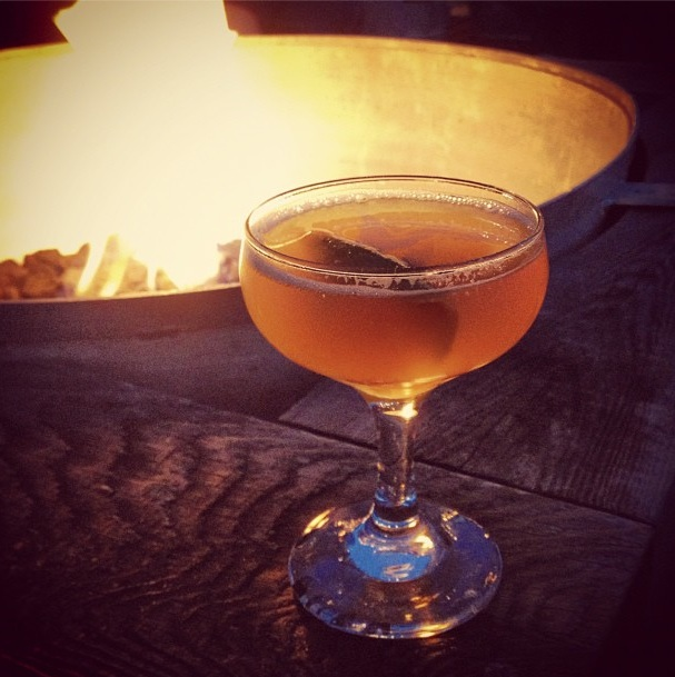 A little fireside happy hour with
