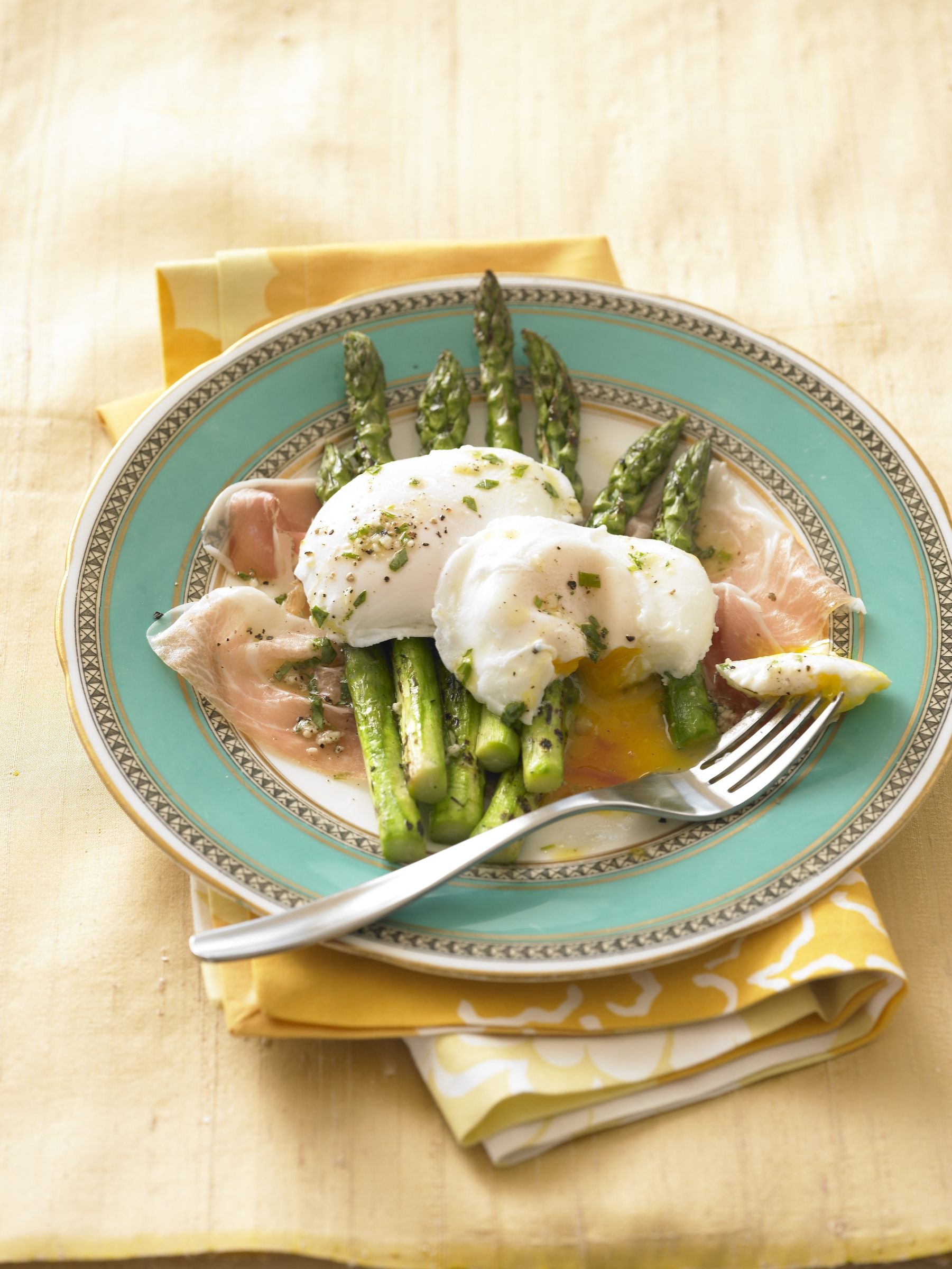 Poached Eggs with Prosciutto