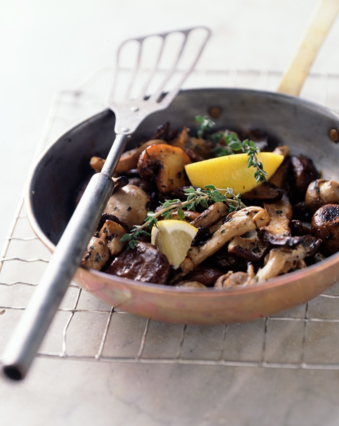 Sizzling Mushrooms