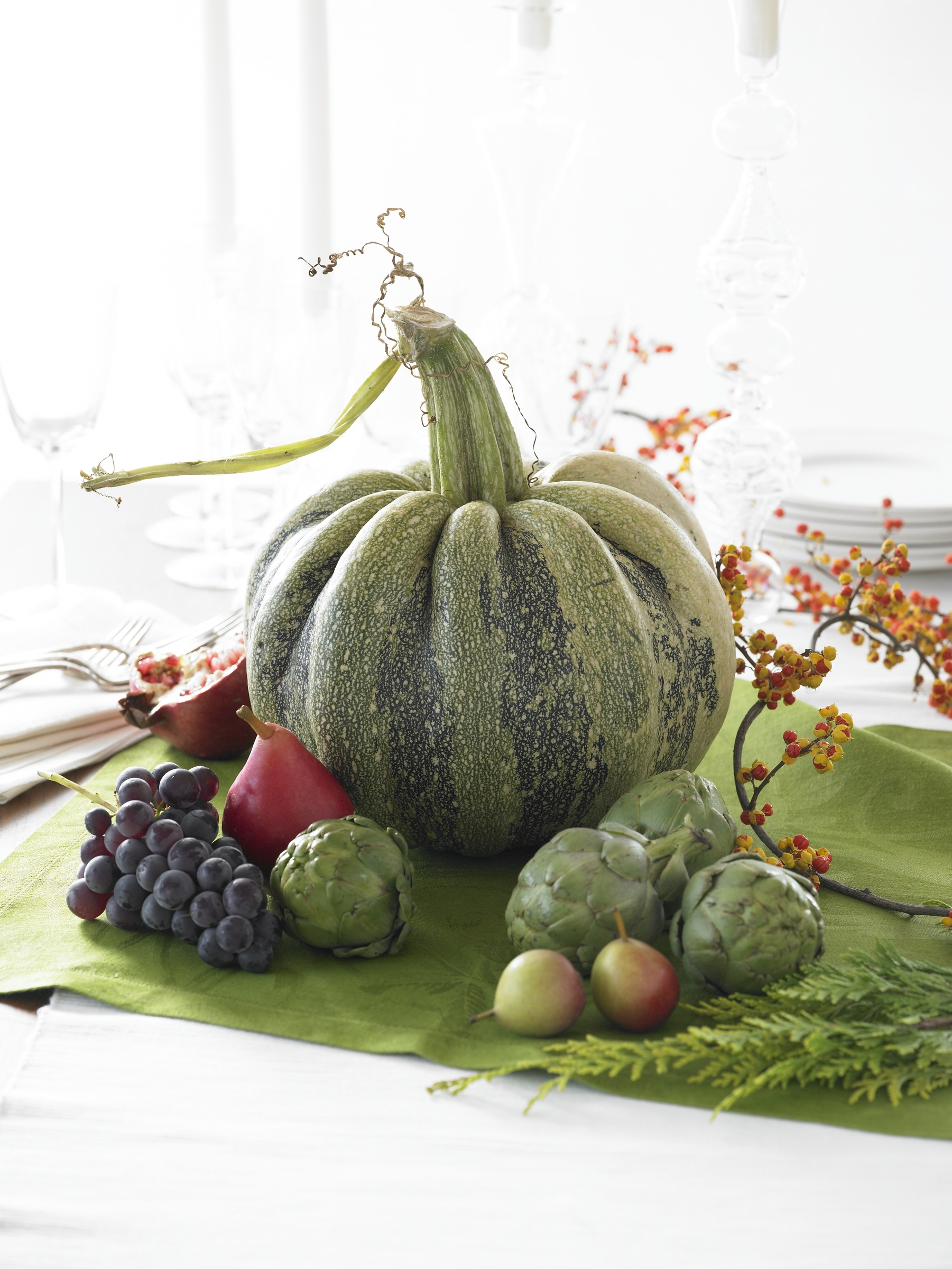 Green Pumpkin Centerpiece