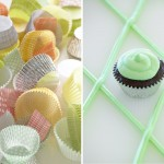 colorful cupcake cups and cupcake