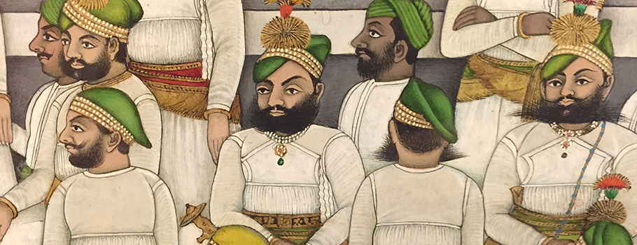 Indian-Wall-Art_men-in-green-hats[1]